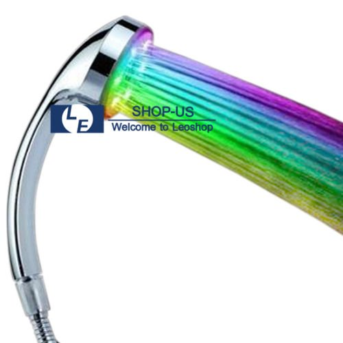 [New 7 Colors Changing Home Bathroom LED Shower Head Water Faucet Glow Light] (Tall Drink Of Water Halloween Costume)