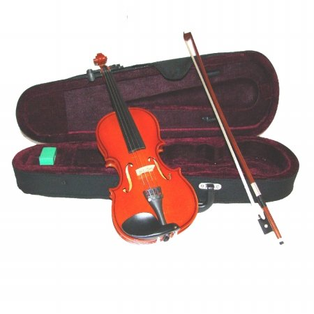 Merano Mv100 3/4 Size Student Violin With Case And Bow+Extra Set Of Strings, Extra Bridge, Rosin, Pitch Pipe