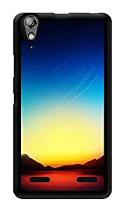 """Humor Gang Beautiful Sunset Printed Designer Mobile Back Cover For """"Lenovo A6000"""" (3D, Glossy, Premium Quality Snap On Case)"""