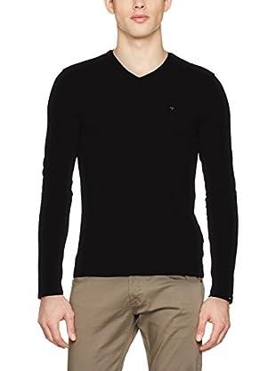 Guess Camiseta Manga Larga Ls Vn Plain (Negro)