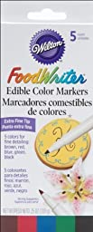 Wilton Food Writer Edible Extra Fine Tip Primary Color Markers