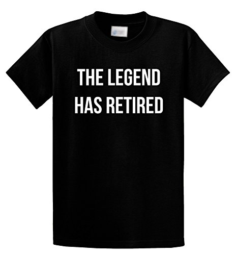 Comical Shirt Men's The Legend Has Retired T Shirt Fathers Mothers Day Black XL