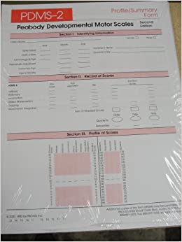 Pdms 2 Peabody Developmental Motor Scales Pdms 2 Profile