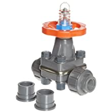 Hayward PVC Diaphragm Valves, FPM Seal, 1/2&#034; Socket/Threaded