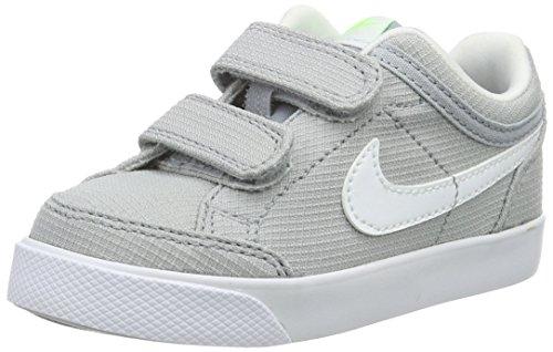Nike Capri 3 Txt, Scarpe da Ginnastica Basse Bambino, Grigio (Wolf Grey/White-Elctrc Grn-Blk), 29.5 EU