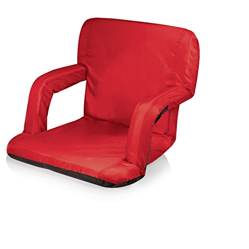 Picnic Time Portable Ventura Reclining Stadium Seat, Red (Picnic Seat compare prices)
