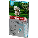 Bayer K9 Advantix II Teal 6-Month Flea & Tick Drops for Medium Dogs, 11-20 lbs.