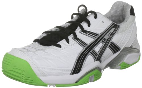 Asics Men's Gel Challenger 8 White/Limousine/Lightning Tennis Shoe E102Y 0199 10.5 UK
