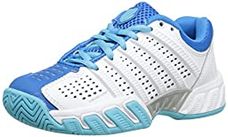 k-SWISS Bigshot Light 2.5 Tennis Shoe (Little Kid/Big Kid), White/Blue Star/Bachelor Button, 6.5 M US Big Kid