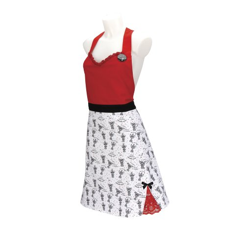 C.R. Gibson Lolita Hostess Apron, Trophy Wife front-1007322