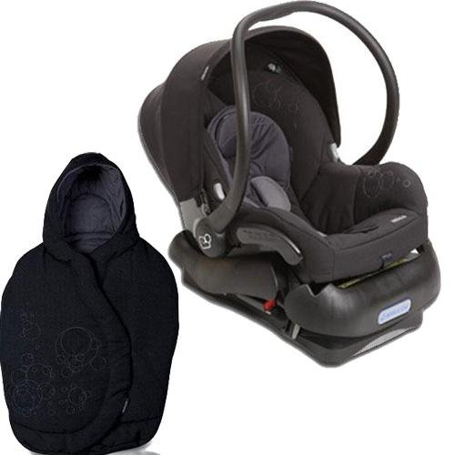 Quinny 2011 Mico Car Seat and Footmuff Set in Total Black