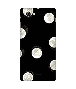White Dots Golden Sony Xperia J Printed Back Cover
