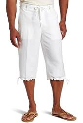 Cubavera Men's 3/4 Length Clamddiger Short