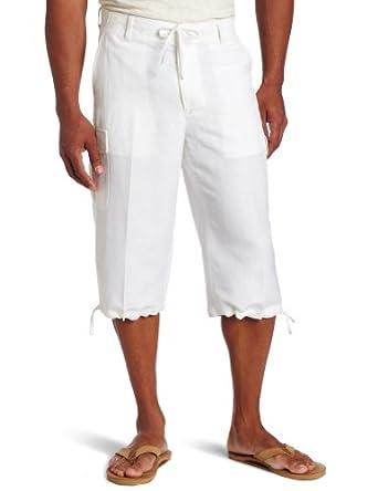 Cubavera Men's 3/4 Length Clamddiger Short, Bright White, 36
