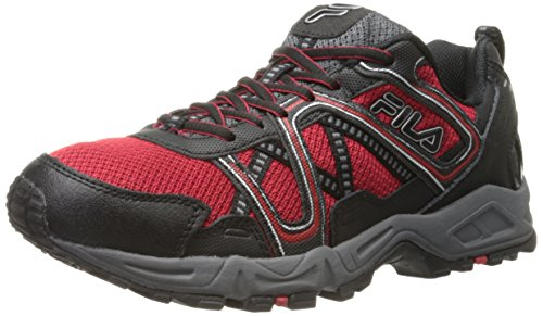 Fila Men's Ascente 15 Trail Running Shoe, Fila Red/Black/Castle Rock, 9 M US