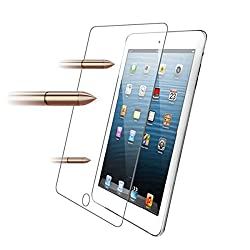 BESTOPE® Premium Bubble-free Reduce Fingerprint Tempered Glass Screen Protection Screen Guard for Ipad Air/ipad 5 with 9H Hardness Ultra-thin 0.3mm Rounded Edges (0.3mm for Ipad 2 3 4)