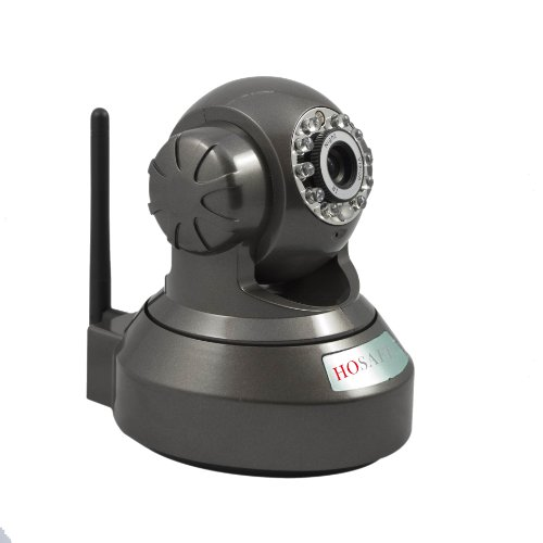 Hosafe 03Mw2 H.264 Wireless Ip Camera With Micro Sd Card Recording, Pan/Tilt And Two Way Speak, P2P Cloud Server Supporting Computer And Phone Motion Detection Capture Picture And Send Email (Black)