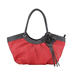 Jewlot Dark orange PU Women's Handbags 1097