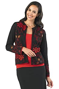Tey-Art Margarita Reversible Jacquard Fair Trade Alpaca Cardigan