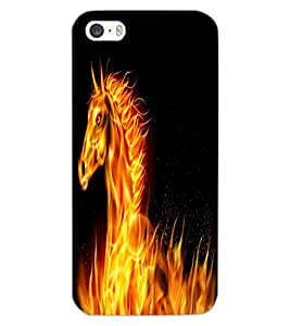 APPLE IPHONE 5S UNICORN Back Cover by PRINTSWAG