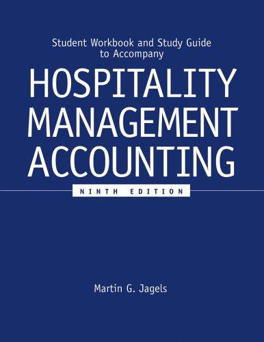 Hospitality Management Accounting, Student Workbook