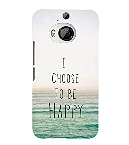 EPICCASE Happy Mobile Back Case Cover For HTC One M9 Plus (Designer Case)
