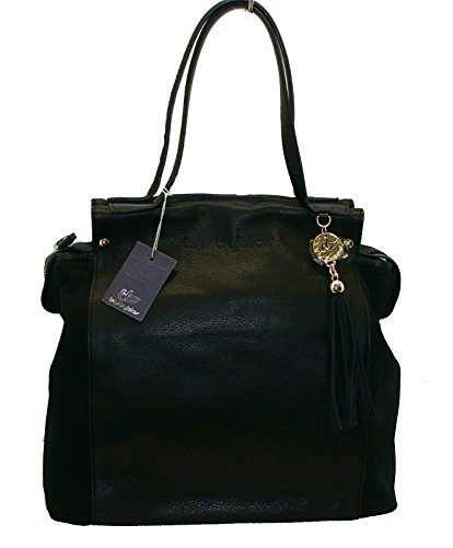 BORSA IN PELLE BYBLOS 626510 WOMAN BAGS MADE IN ITALY BERLIN LEATHER BAG NERO