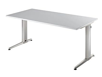 Scrivania Hammerbacher Serie XS 180 cm rettangolare Struttura in alluminio legno decorazione a scelta zwetschge