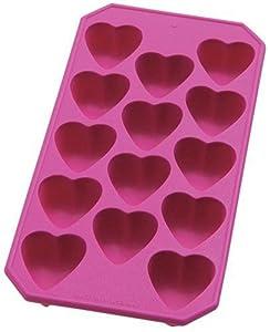 Lekue Silicone Ice Cube Tray, Heart