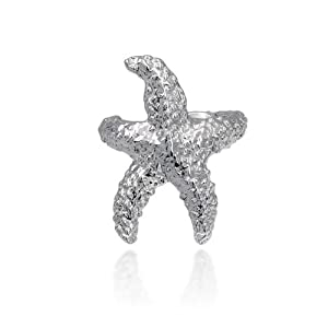Bling Jewelry Nautical Sea Starfish Ear Cuff Left Ear 925 Sterling Silver