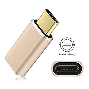 VicTop USB C to Micro USB Adapter Type C Data Transfer Charging Converter Connector for MacBook 12inch 2015, ZUK Z1, MI 4C, Nokia N1, Chromebook Pixel 2015, Nexus5x Nexus6P, Microsoft Lumia950 Lumia950XL, OnePlus 2 and other Type-C Devices - Golden