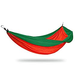 Nimble House(TM) Lightweight EASY CARRY & STRONG Portable Nylon Parachute Hammock for Backpacking, Travel, Beach, Yard (Size 275X140cm)