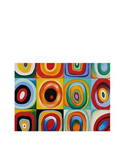 LegendArte Panel Decorativo Prueba De Colores de Vassily Kandinsky