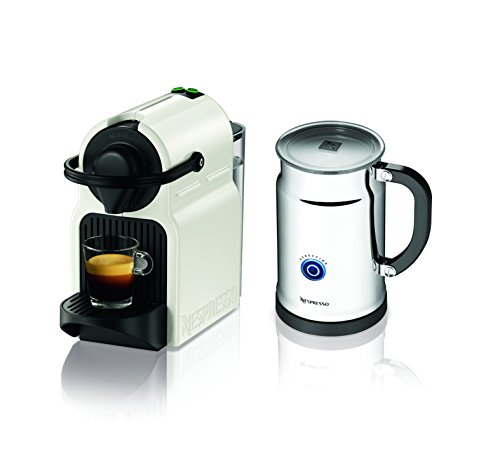 Discover Bargain Nespresso Inissia Espresso Maker with Aeroccino Plus Milk Frother, White