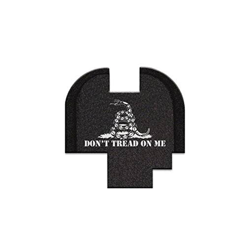 Rear Slide Cover Plate, Butt Plate For Springfield Armory XDS - Don't Tread On Me (Springfield Rear Slide Plate compare prices)