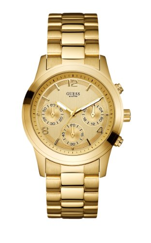GUESS Women's U13578L1 Contemporary Gold-Tone Chronograph Watch