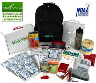 The Saver72 72-Hour Kit For Hurricane / Earthquake / Emergency Preparedness