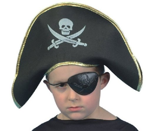 Smiffys Pirate Captain Hat For Children One Size Fit - 1