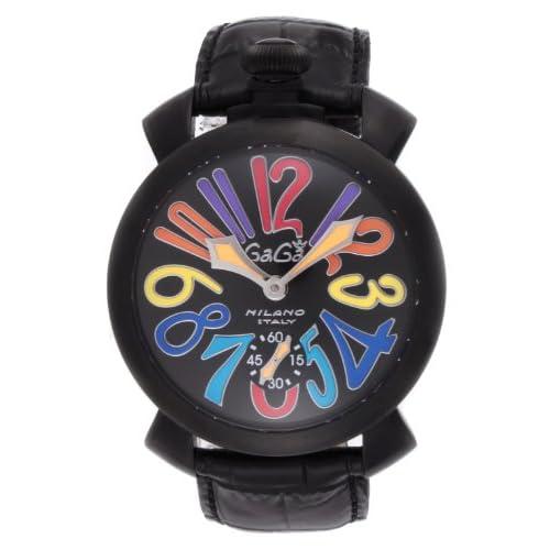 [ガガミラノ]GAGA MILANO 腕時計 ブラック文字盤 ステンレス(BKPVD)ケース 裏蓋スケルトン スイス製 5012.03S-BLK レディース 【並行輸入品】