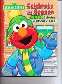 Sesame Street 64 Pages Jumbo Coloring & Activity Book ~ Celebrate the Season - 1