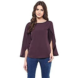Purple Cape Sleeve TopBy Magnetic Designs (MDTOP638 _Purple_Large)