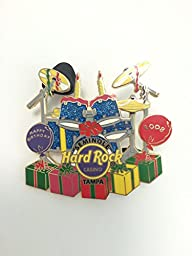 Hard Rock Casino Seminole, Tampa 2008 Happy Birthday Drum Set Lapel Pin