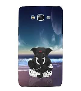 printtech Lord God Ganesha Back Case Cover for Samsung Galaxy A8 / Samsung Galaxy A8 A800F