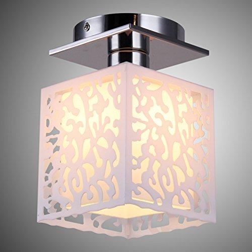 Lightinthebox Korean Style Rustic 1 Light Ceiling Light With Hollow Shade Modern Home Ceiling Light Fixture Flush Mount, Pendant Light Chandeliers Lighting, Voltage=110-120V