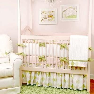 Ivy League Pink Crib Bedding Set
