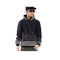 Pizoff Mens Winter Hoodies Jacket Coat Sweater Sweatshirt Tops, Y0261-navy-XL