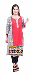 Krivi By Kk Women's Cotton Kurti (KRV-04-D_Gray_XL)