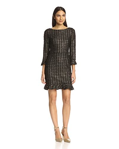 A.B.S. by Allen Schwartz Women's Metallic Cropped Sleeve Dress