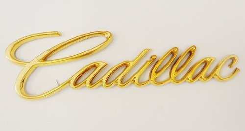 Cadillac Gm Script Emblem Gold Plated 24K (Cadillac Emblem Gold compare prices)