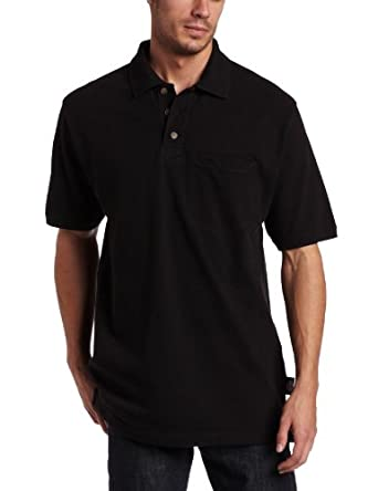Dickies Men's Short Sleeve Mini Pique Polo With Moisture Wicking, Black, Medium